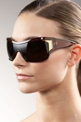 Jee Vice Widearmed Shield Sunglasses - Lyst