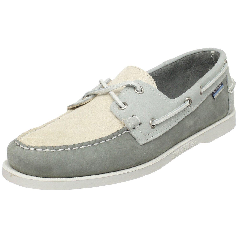 sebago mens spinnaker boat shoe in gray for grey