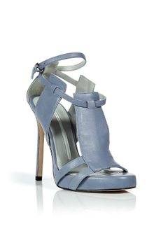 Camilla Skovgaard Sky Blue Threepanel Stiletto Sandals - Lyst