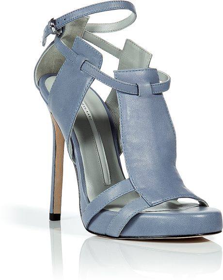 Camilla Skovgaard Sky Blue Threepanel Stiletto Sandals in Blue (sky) - Lyst