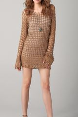 Dallin Chase Kyros Crochet Tunic Dress - Lyst