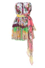 D&g Multicolor Belted Strapless Dress in Multicolor - Lyst