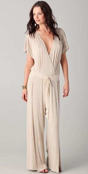 Dolan Cross Front Jumpsuit - Lyst
