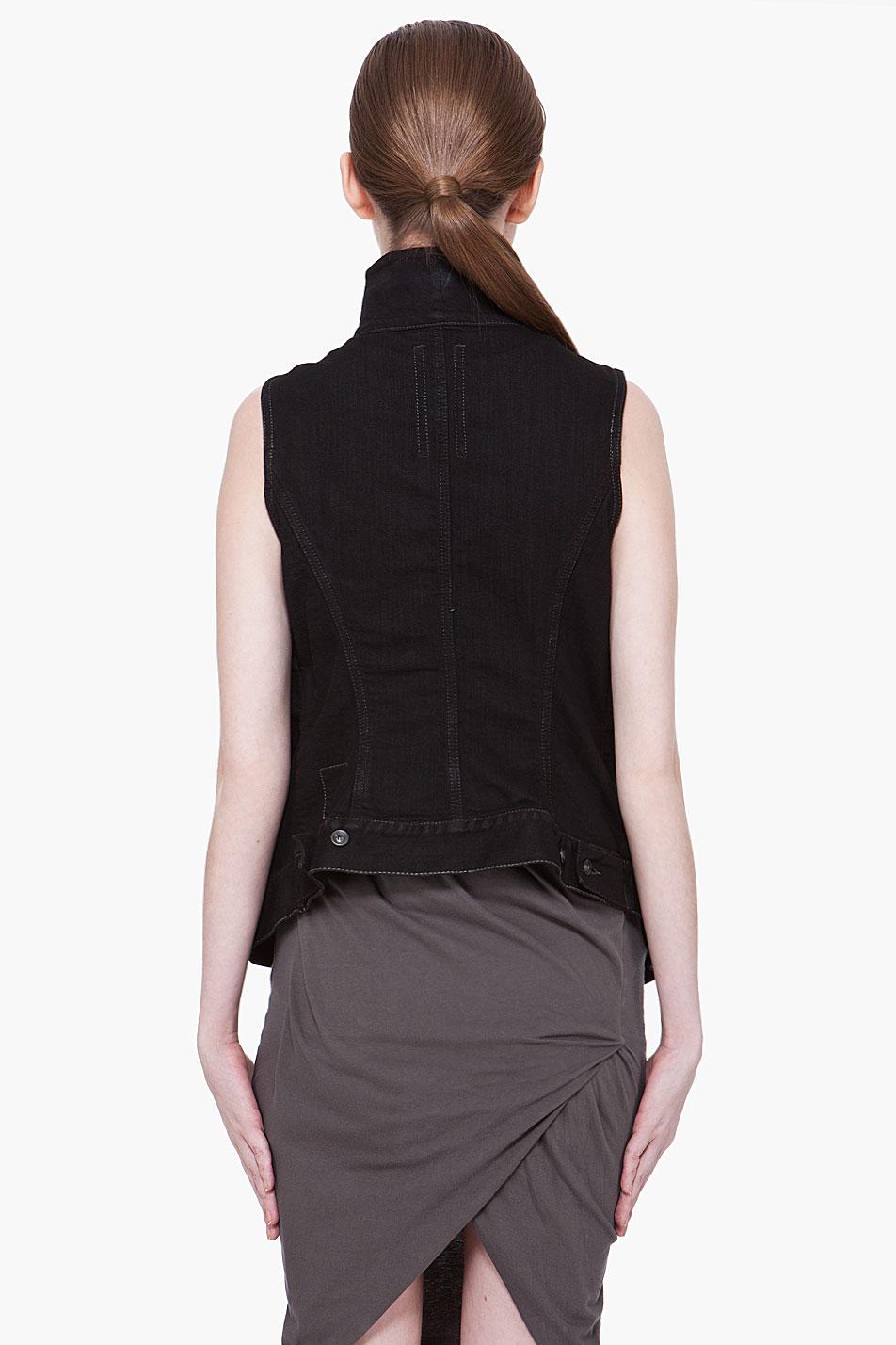 black vest and jeans - photo #31