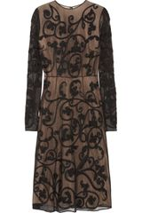 Jonathan Saunders Sheldon Embroidered Cottonmesh Dress - Lyst