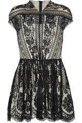 Lover Wiccan Lace Mini Dress in Black - Lyst
