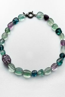 M.c.l By Matthew Campbell Laurenza Amethyst Accented Multicolored Flourite Beaded Necklace - Lyst
