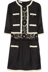 Moschino Satintwill And Lace Dress