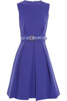 Preen Grace Pleated Stretchcrepe Dress - Lyst