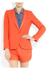 Sandro Vicky Woventwill Blazer in Orange - Lyst