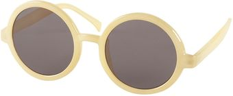 Topshop Lemon Round Oversize Sunglasses By Squint - Lyst
