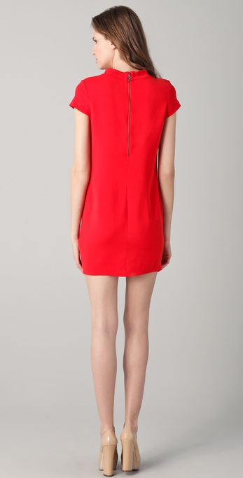 e95a673740c Lyst - Alice + Olivia Diaz Boxy Shift Dress in Red