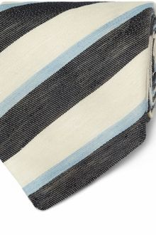 E. Tautz Wide Striped Linen and Silkblend Tie - Lyst