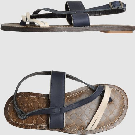 Frankie Morello Flip Flops in Blue for Men - Lyst
