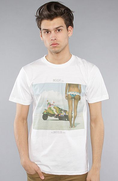Insight The Bike Bum Tee  in White for Men