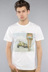 Insight The Bike Bum Tee  in White for Men - Lyst
