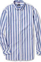Paul Smith Striped Washed Cotton Oxford Shirt - Lyst