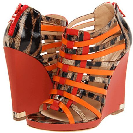 Roberto Cavalli Leather Wedges in Multicolor (t) - Lyst