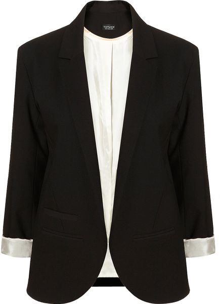 Topshop Black Boyfriend Blazer in Black - Lyst
