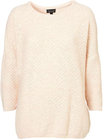 Topshop Knitted Tweedy Panel Jumper - Lyst