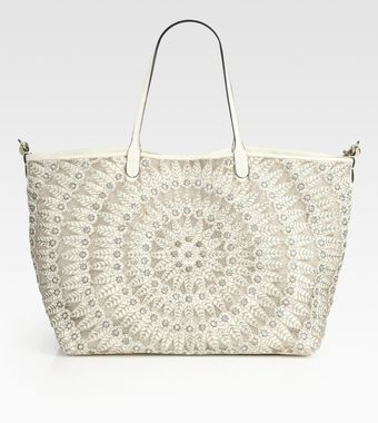 Valentino Glamorous Embellished Leather Tote Bag - Lyst