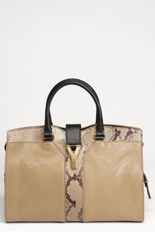 Yves Saint Laurent Cabas Chyc Medium Python Satchel - Lyst