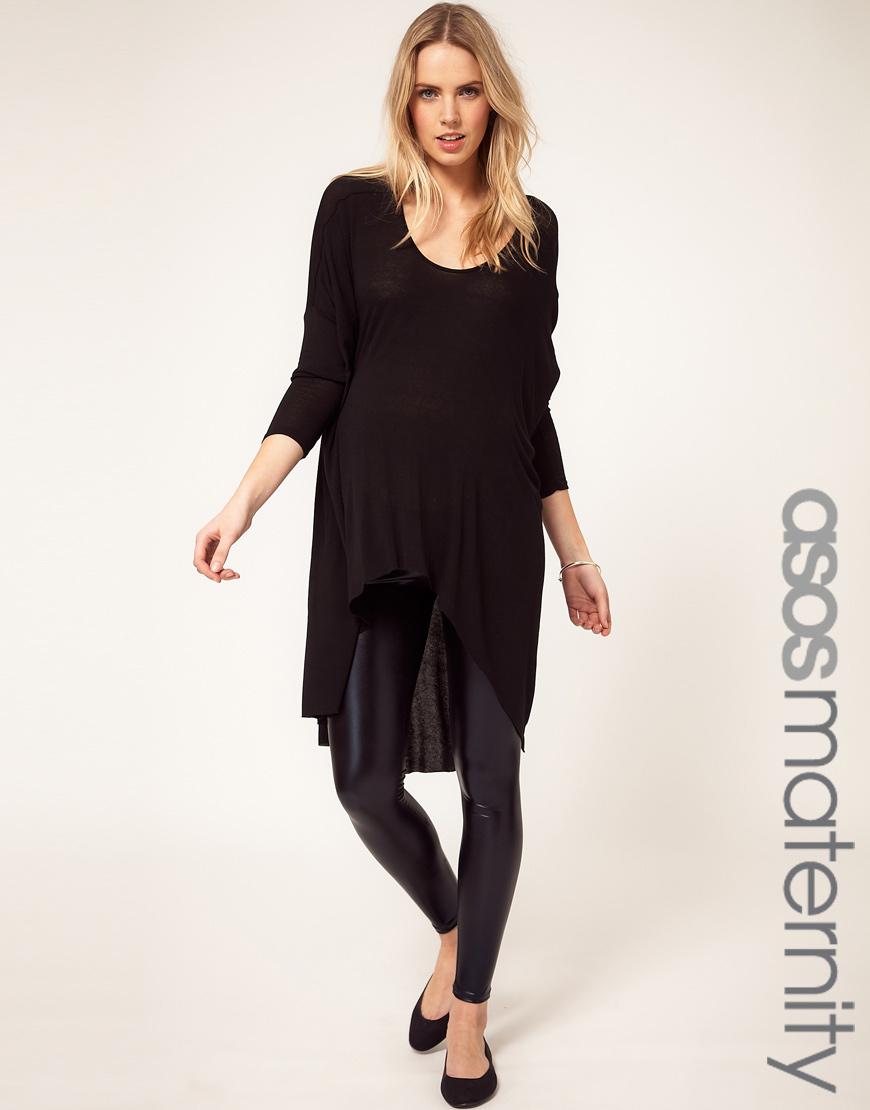 Lyst Asos Maternity Wet Look Legging In Black