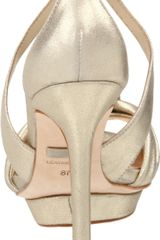 Badgley Mischka Womens Wallis Platform Sandal in Gold (platinum) - Lyst