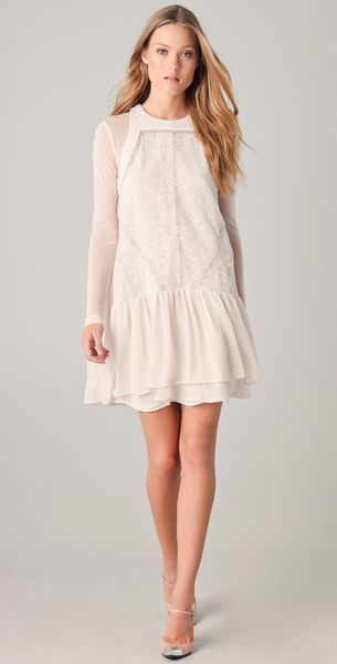 Camilla & Marc Morrison Lace Dress in Beige (cream) - Lyst