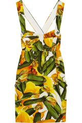 Dolce & Gabbana Printed Brocade Cottonblend Mini Dress in Multicolor (multicolored) - Lyst