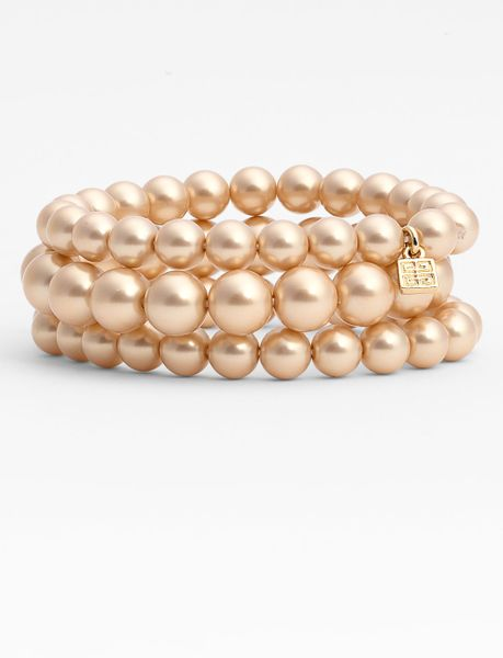 Givenchy Kalahari Pearl Stretch Bracelets in Gold (gold pearl/ gold) - Lyst