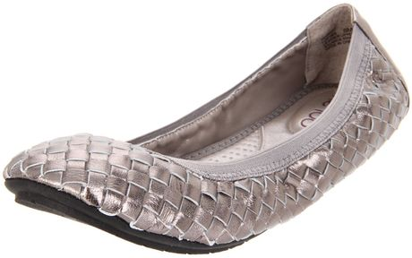 Me Too Womens Lottie Ballet Flat in Silver (pewter) - Lyst