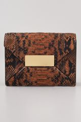 Michael Kors Collection Quinn Envelope Clutch - Lyst
