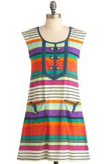 Modcloth Summer Sunset Dress in Multicolor (sky) - Lyst