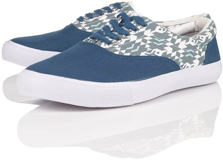 Topman Mystery Print Plimsolls in Blue for Men - Lyst