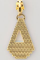 Tory Burch Floyd Earrings in Yellow - Lyst