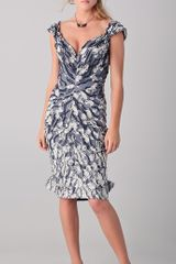 Zac Posen Off The Shoulder Jacquard Dress - Lyst