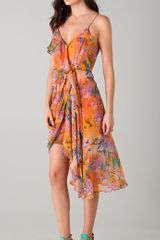 Zimmermann Rebellion Bluebird Drape Dress - Lyst