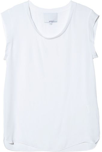 3.1 Phillip Lim Silk Muscle Tee in Antique White - Lyst