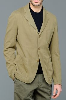 Aspesi Military Cotton Slim Fit Blazer - Lyst