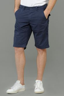 Aspesi Navale Oxford Cotton Shorts - Lyst