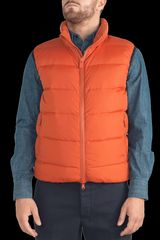 Aspesi Nylon Taffetà Agile Vest in Orange for Men (khaki) - Lyst