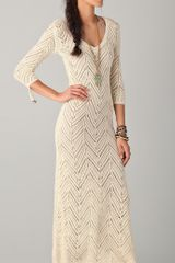 Mara Hoffman Long Crochet Dress - Lyst