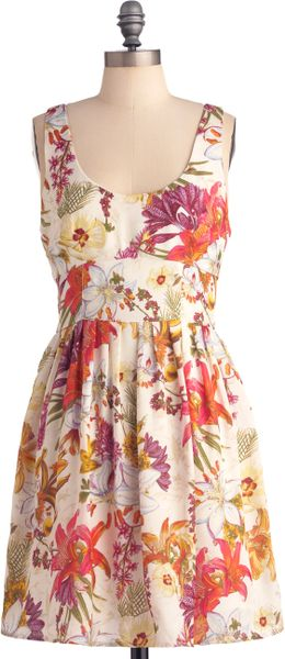 Modcloth Etching Style Dress in Floral