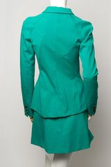 Proenza Schouler Seamdetail Jacket in Green (sea) - Lyst