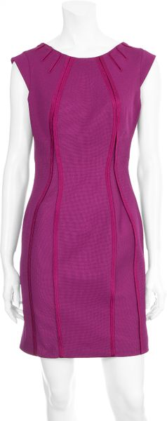 Zac Posen Seam Bondage Dress in Purple (magenta) - Lyst