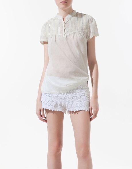 Zara Neon Lace Blouse 5
