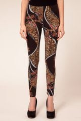 Asos Collection Petite Exclusive Leggings in Chain Print in Blue (multi) - Lyst