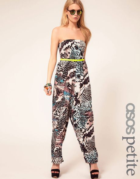 Asos Collection Petite Exclusive Jumpsuit in Print in Animal (print) - Lyst