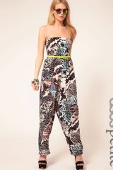 ASOS Collection Petite Exclusive Jumpsuit in Print